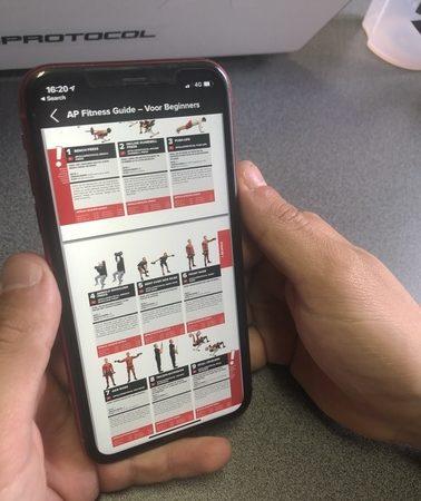 fitness schema op telefoon