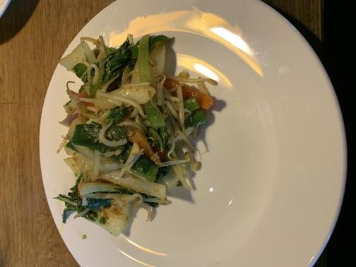bord met groenten mix