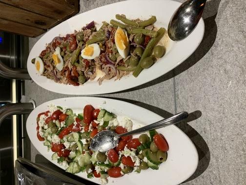 tonijnsalade op schotel