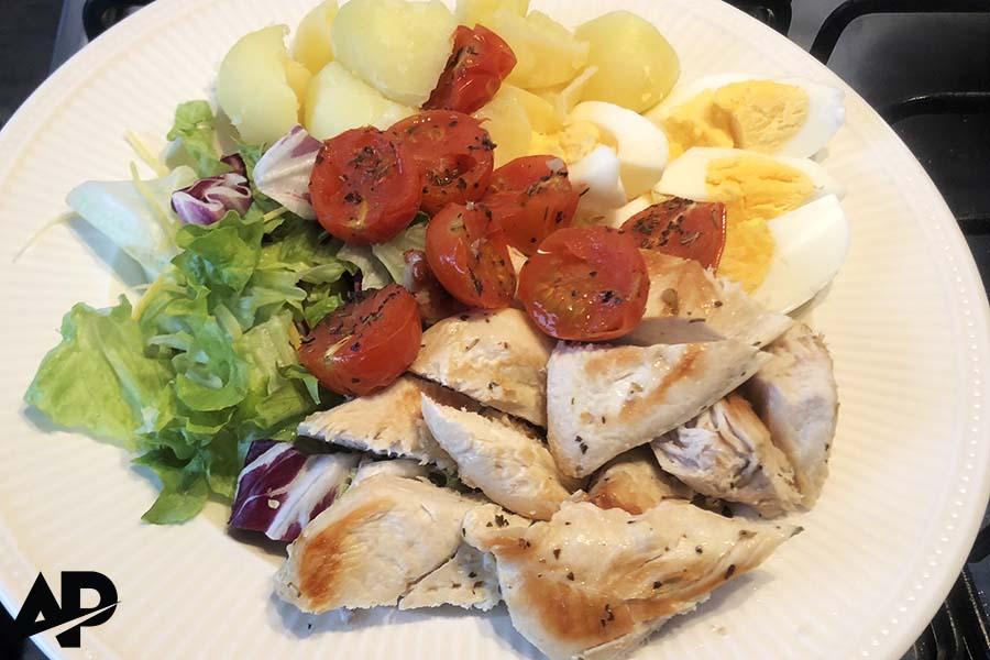 Heerlijke gezonde en eiwitrijke maaltijd.