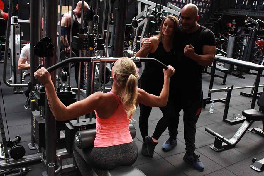 Krachttraining voor spieren opbouwen.