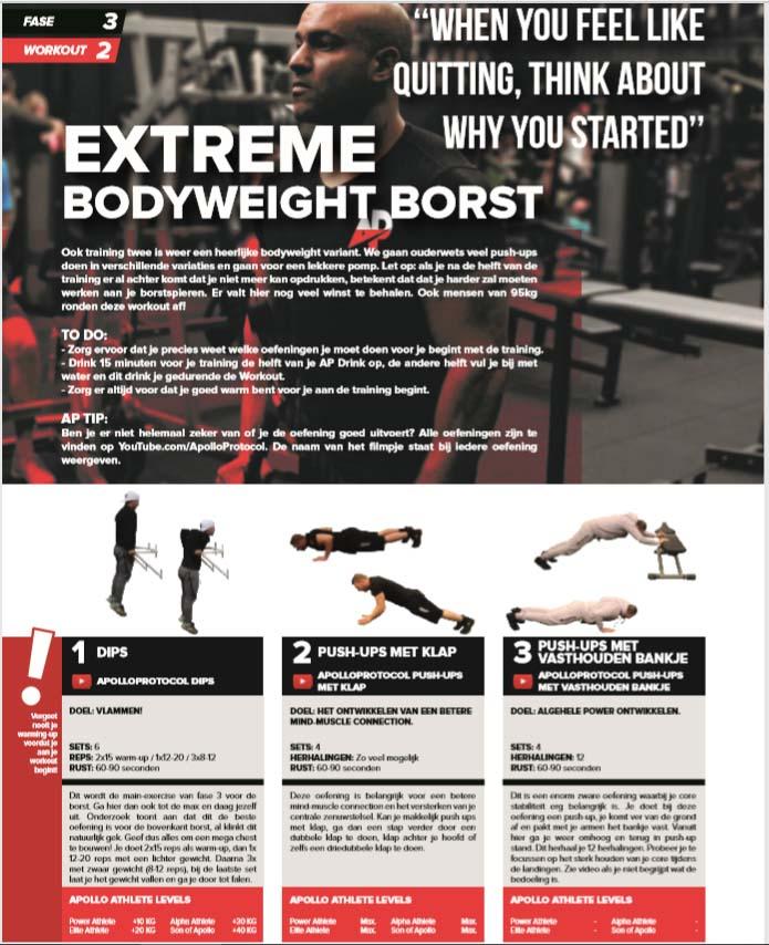 Thuis trainen met een fitness schema.