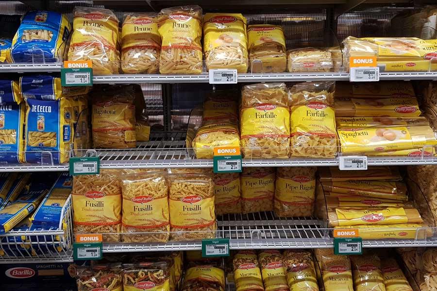 Koolhydraten in bijvoorbeeld pasta