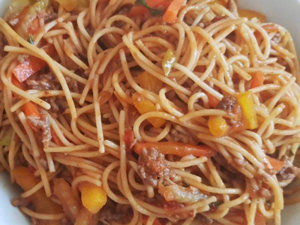 Waar zitten veel koolhydraten in - spaghetti