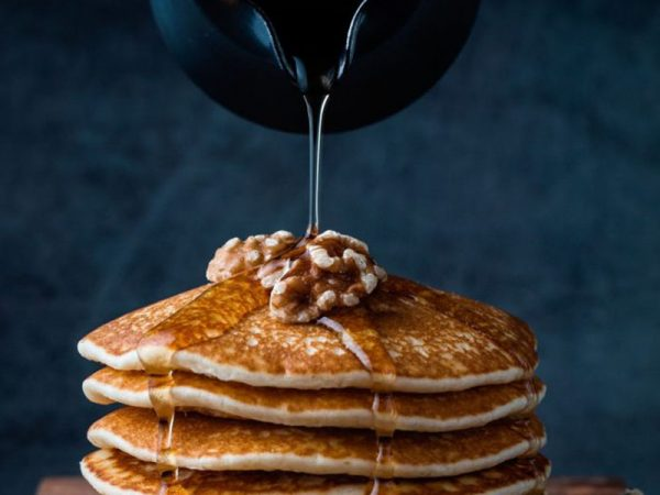 havermout pannenkoeken met honing en walnoten