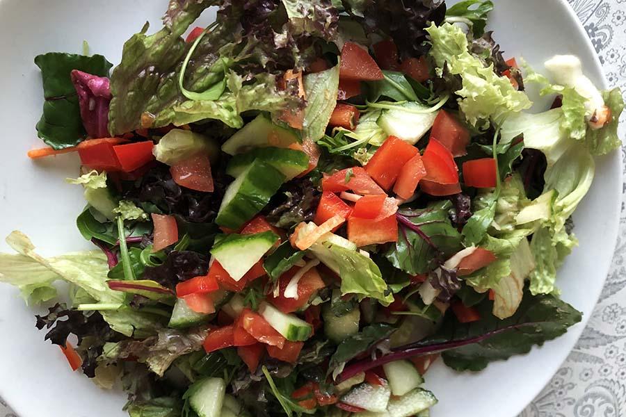 Plain sport salade, geef de juiste topping