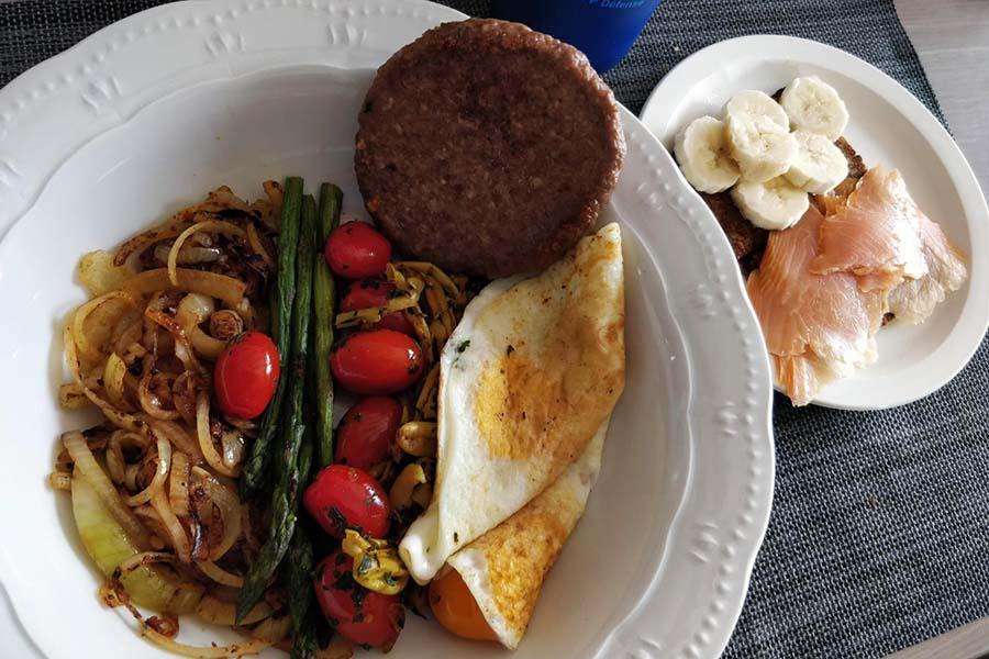 Eet veel eiwitten als je hard traint.