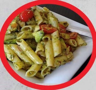 Mealprep recept avocado pasta